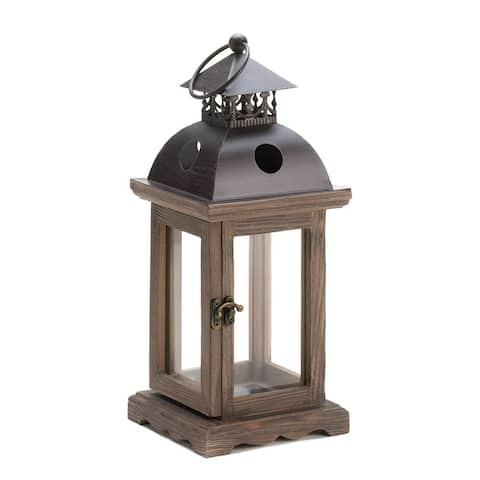 Rustic Wood Candle Lantern