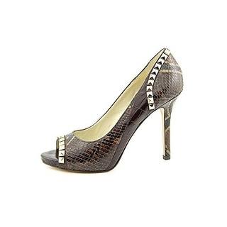 Michael Kors Women's Ella Peep Toe Studded Pumps