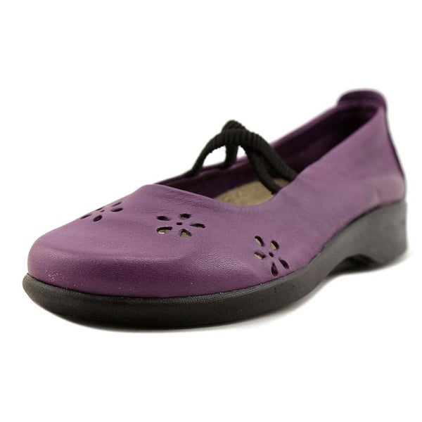 A'rcopedico Flower Women Round Toe Leather Mary Janes