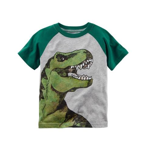 Carter's Baby Boys' Dinosaur Raglan Tee, 3 Months