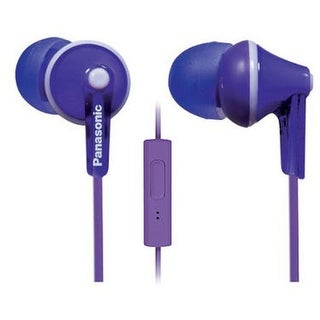 Panasonic ErgoFit In-Ear Earbuds Headphones Mic/Controller RP-TCM125-V (Purple)