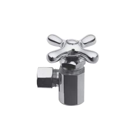 """Brasstech 400X Metal Cross Handle Angle Valve with 1/2"""" IPS Inlet and 1/2"""" O.D. Compression Outlet"""