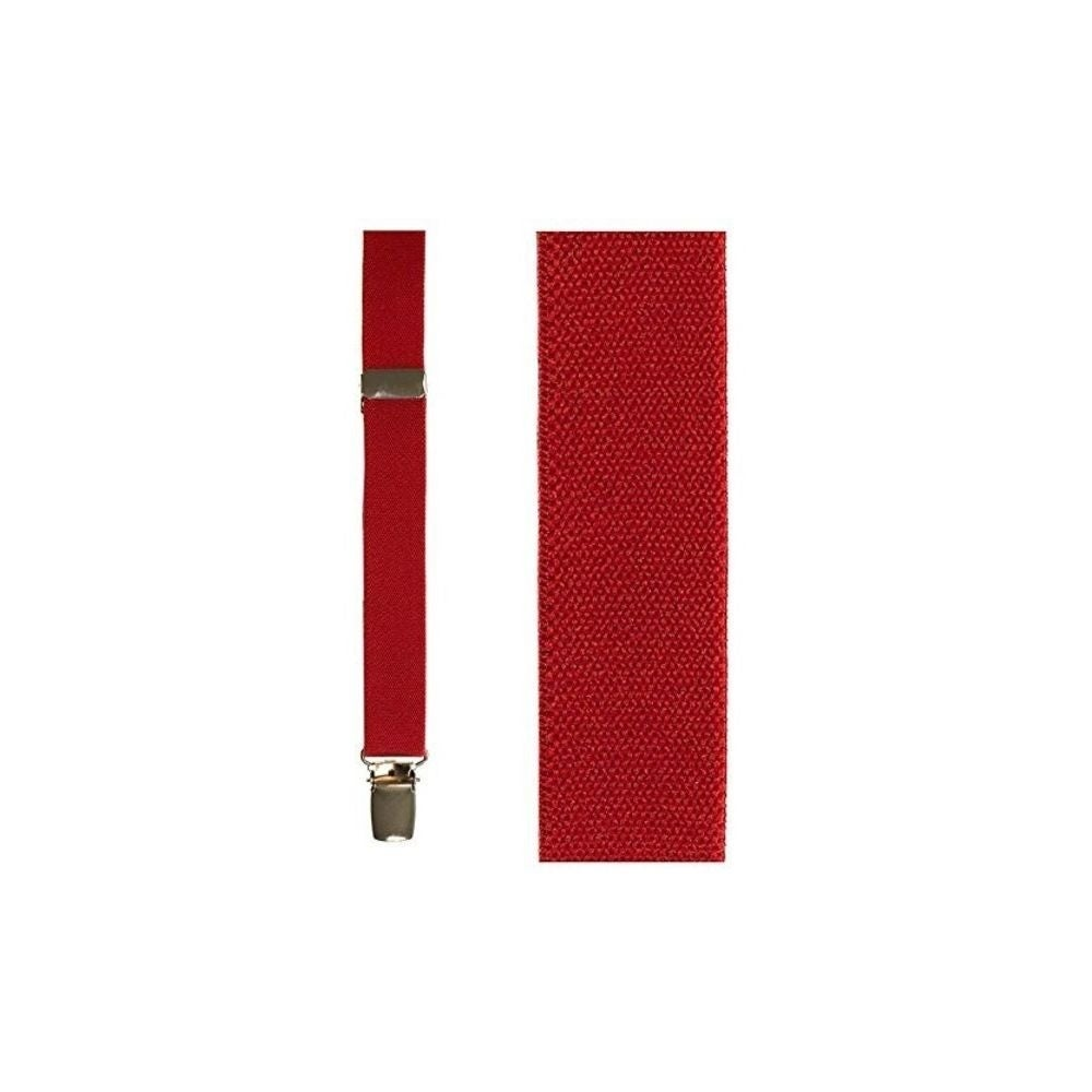 Red Oxford Suspenders