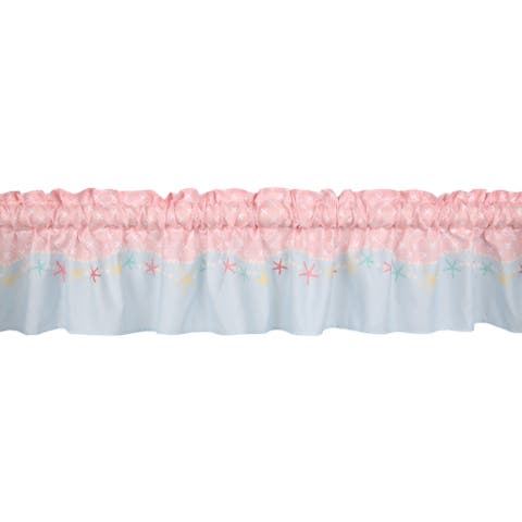Bedtime Originals Ocean Mist Pink/Aqua Seashell Window Valance