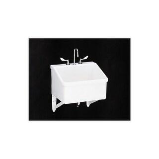 Shop Kohler Sudbury Wall Mount 20 Inch White Service Sink Free