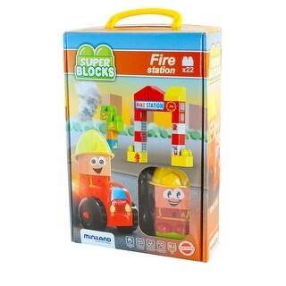 Super Blocks Fire Station Set