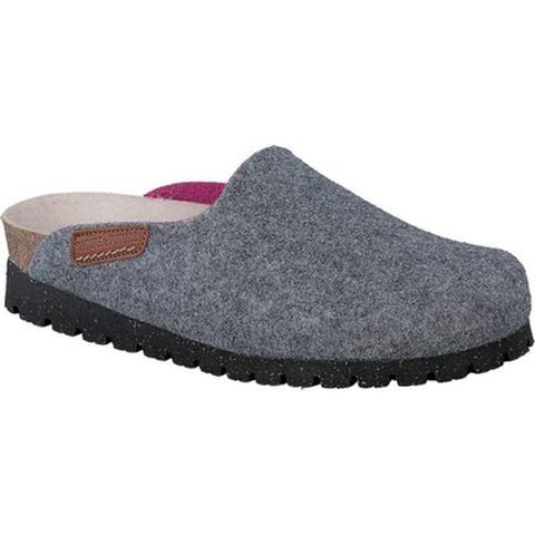 Mephisto Women's Thea Clog Grey/Pink Sweety Suede