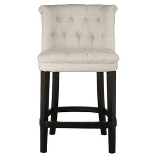 janvier off white leather bar stool free shipping today 13607507. Black Bedroom Furniture Sets. Home Design Ideas
