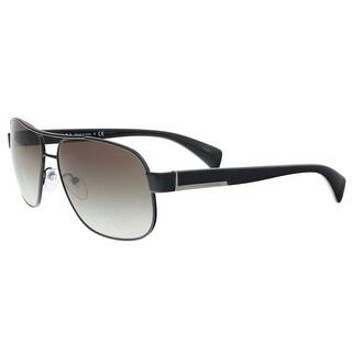 Prada PR 52PS 7AX0A7 Black Rectangle Sunglasses - 61-15-140