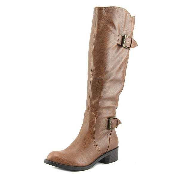 Style & Co Derbey Wide Calf Women Round Toe Synthetic Tan Knee High Boot
