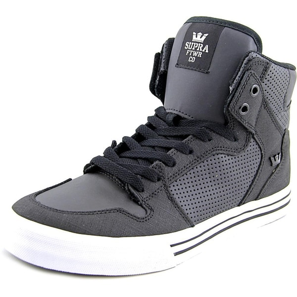 Supra Vaider Men Black/White Skateboarding Shoes