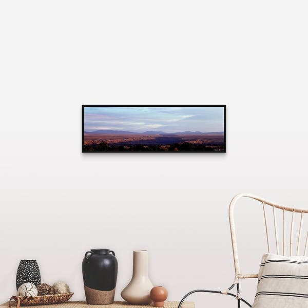 Mountains On A Landscape Rio Grande Gorge Taos New Mexico Black Float Frame Canvas Art Overstock 25528251