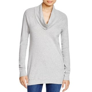 Three Dots Womens Tunic Top Heathered Long Sleeves
