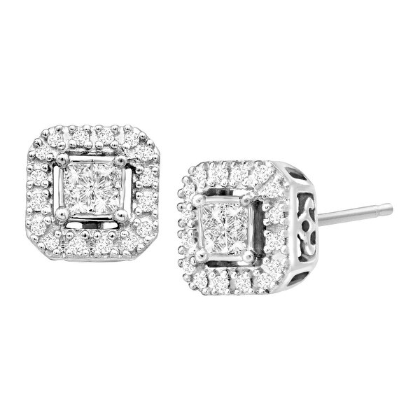 1/4 ct Diamond Stud Earrings in 10K White Gold
