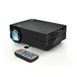 Compact Digital Multimedia Projector, HD 1080p Support, MP3/USB/SD/AV/VGA (Mac & PC Compatible)