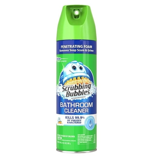 Scrubbing Bubbles 71367 Multi-Surface Bathroom Cleaner, 22 Oz, Clear Yellow