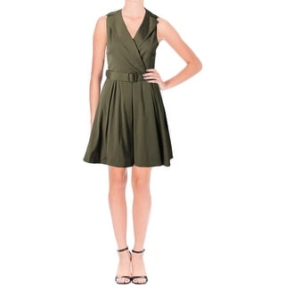 Lauren Ralph Lauren Womens Dexas Shirtdress Taffeta Fit & Flare