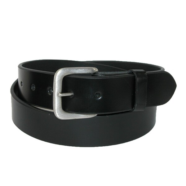 CTM® Men's Leather 1 3/8 Inch Removable Buckle Bridle Belt