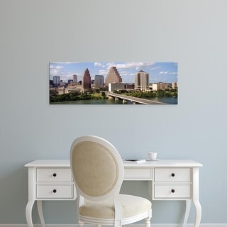Easy Art Prints Panoramic Images's 'Buildings in a city, Town Lake, Austin, Texas, USA' Premium Canvas Art