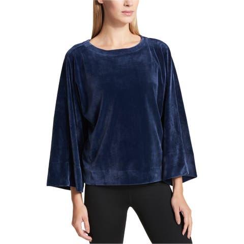Dkny Womens Velour Kimono-Sleeve Basic T-Shirt