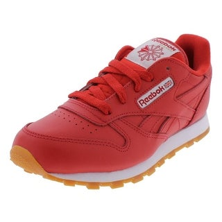 Reebok Boys Classic Leather Gum Athletic Shoes Low Top Fashion