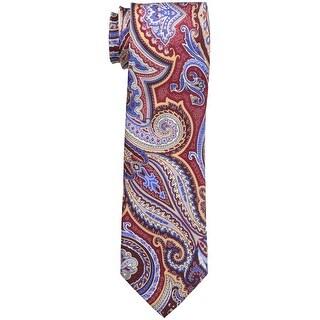 Geoffrey Beene NEW Burgundy Red Men's Slim Paisley Print Silk Neck Tie