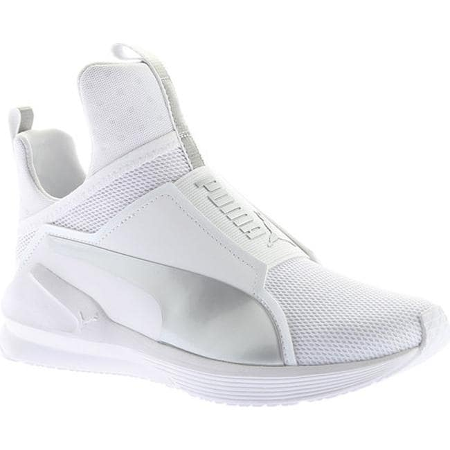 Shop PUMA Women s Fierce Cross Training Shoe PUMA White PUMA Silver - Free  Shipping Today - Overstock - 17130799 98e2b0349