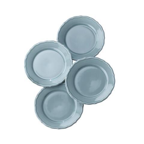Euro Ceramica Savannah Solid Color Salad/Dessert Plates (Set of 4)