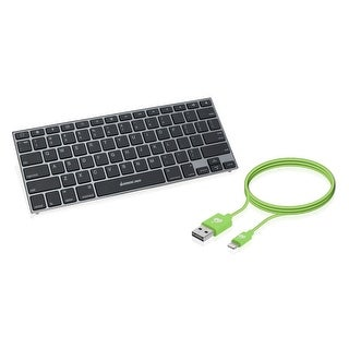 Iogear Keyslate Ultra-Slim Bluetooth 4.0 Keyboard Reversible Usb Gkb641bkit-Gr