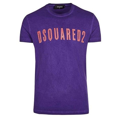 DSQUARED2 Mens Purple Logo Short Sleeve TShirt