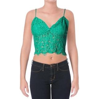 Bardot Womens Lace Bralette Crop Top