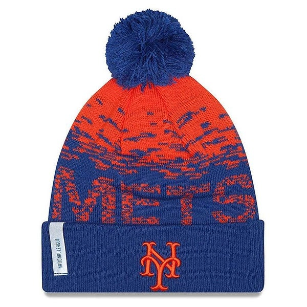 buy online 644d6 6d105 Shop New Era New York Mets MLB On Field Sports Knit Stocking Beanie  11212435 - Free Shipping On Orders Over  45 - Overstock - 19449531