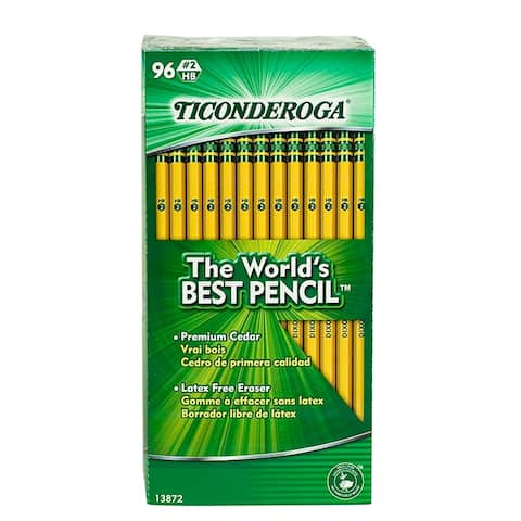 Ticonderoga original ticonderoga pencils 96bx 13872