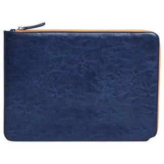 """13"""" Faux Leather Sleeve Blue"""