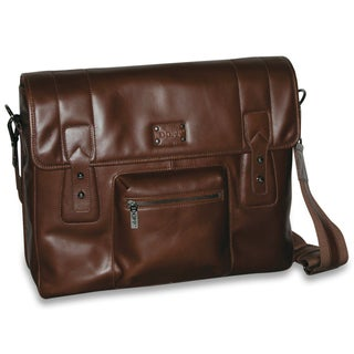 DOPP Men's Leather Gear Messenger Bag