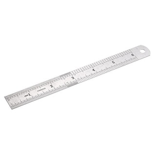 Steel Ruler, 6 inch Ruler Inches and Centimeters, Drawing Ruler, Measuring Ruler