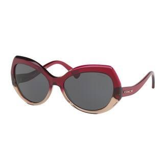 Coach Women's HC8177 548487 59 Dark Grey Solid Plastic Sunglasses