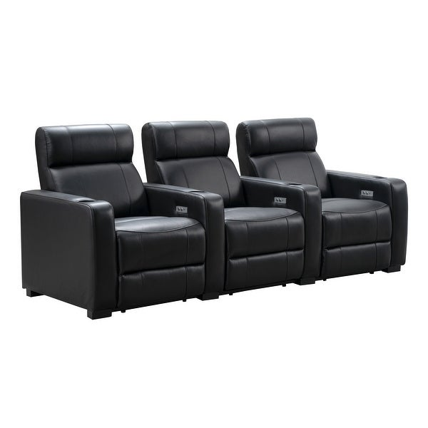 Abbyson Melbourne 3 Piece Power Reclining Theater Set. Opens flyout.