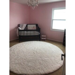 "Safavieh California Cozy Plush Milky White Shag Rug - 8'6"" x 8'6"" Round"