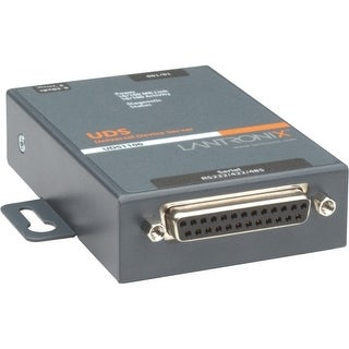 Lantronix UD1100002-01 Lantronix One Port Serial (RS232/ RS422/ RS485) to IP Ethernet Device Server - International 110-240 VAC