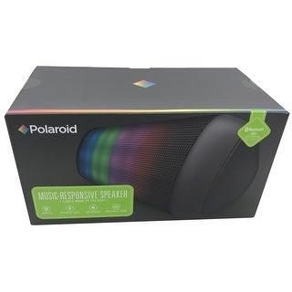 Polaroid NEW Black LED Bluetooth Electronic Responsive Wireless Speakers