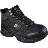 Skechers Men's Work Ledom Steel Toe Waterproof Boot Black