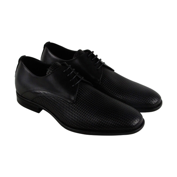 Aquatalia Aaron Mens Black Leather Casual Dress Lace Up Oxfords Shoes
