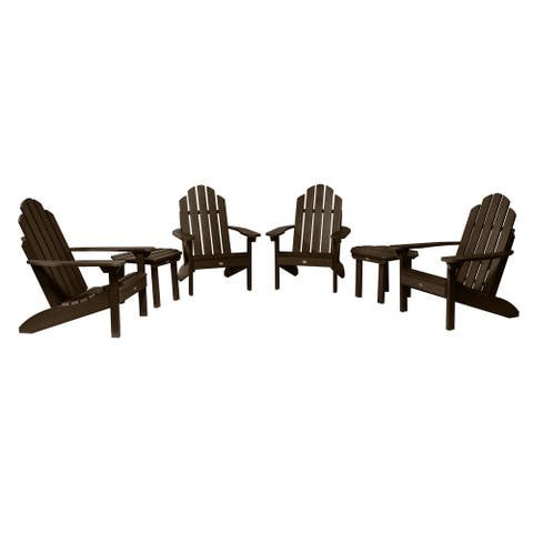 Mandalay 6-piece Outdoor Set with 4 Adirondack Chairs and 2 Side Tables by Havenside Home