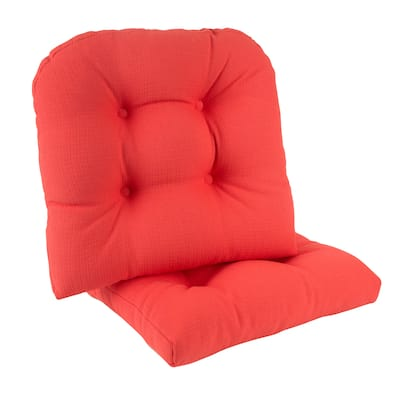 "Gripper Non-Slip 17"" x 17"" Omega Tufted Chair Cushions, Set of 2"