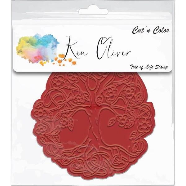 Ken Oliver Cut 'N Color Cling Stamp-Tree Of Life