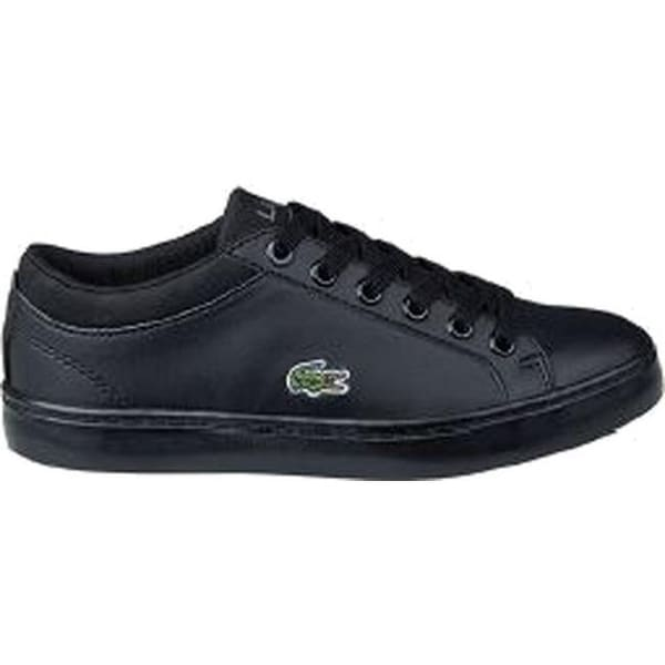 9bb40844cf Lacoste Children's Straightset Sneaker - Little Kid Black Synthetic