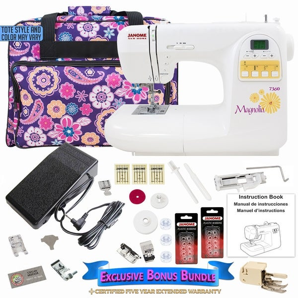 Janome Magnolia 7360 Sewing Machine with Exclusive Bonus Bundle