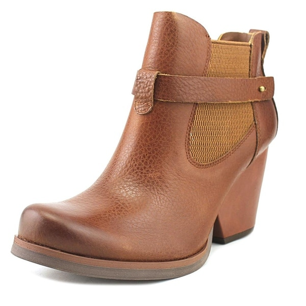 Korks Moonstone Women Round Toe Leather Brown Ankle Boot