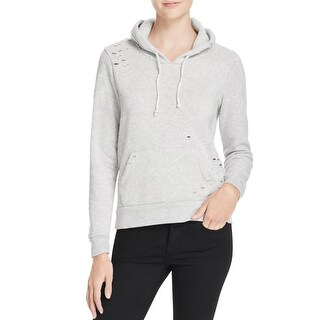 Alternative Apparel Womens Sweatshirt Distressed Hooded